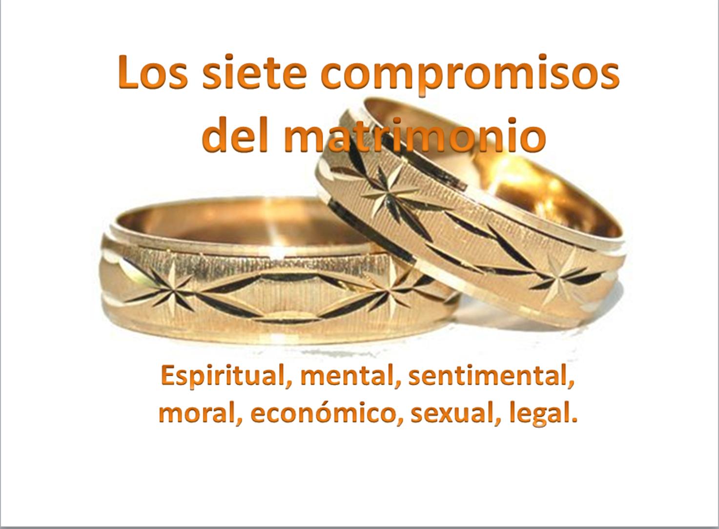 Matrimonio Catolico Y Cristiano : Los siete compromisos del matrimonio discipulados