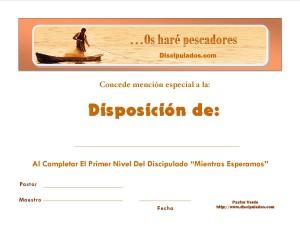 Diploma Discipulados.